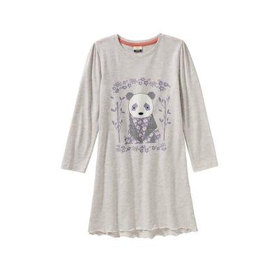 Mädchen-Nachthemd mit Panda-Frontaufdruck
