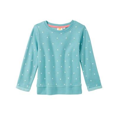 Mädchen-Sweatshirt mit Herzmuster