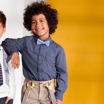 Jungen-Hemd mit abnehmbarer Fliege