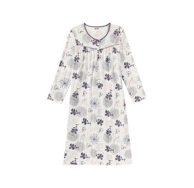 Damen-Nachthemd mit floralem Muster