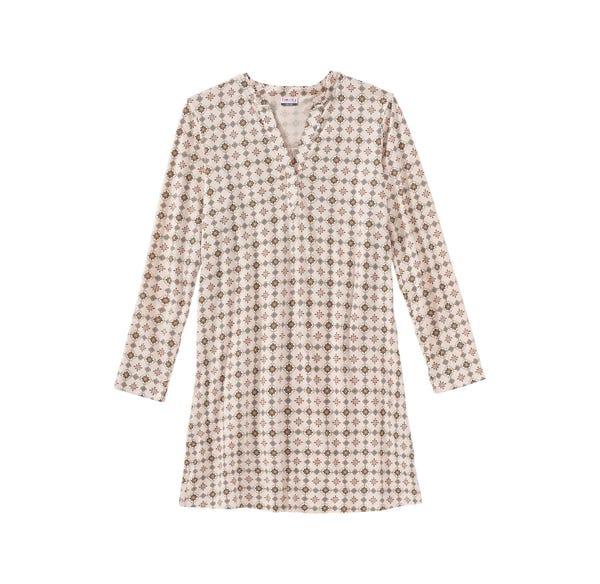 Damen-Nachthemd mit schickem Muster