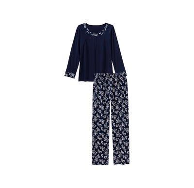 Damen-Schlafanzug mit tollem Blumenmuster, 2-teilig