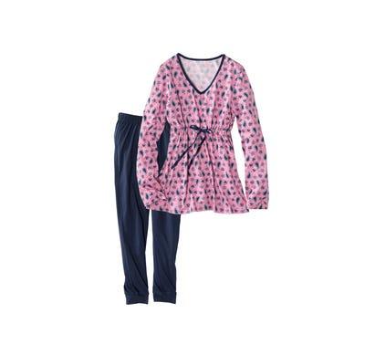 Damen-Schlafanzug mit Zugband, 2-teilig