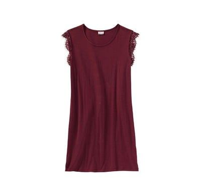 Damen-Nachthemd mit Spitzenärmeln