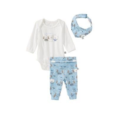 Baby-Jungen-Set mit Tier-Aufdruck, 3-teilig
