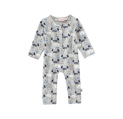 Baby-Jungen-Overall mit Tiermuster