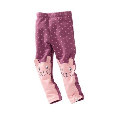 Baby-Mädchen-Leggings mit lustigem Gesicht