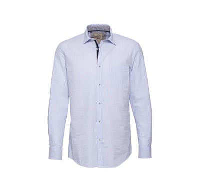 Herren-Seersucker-Hemd mit Streifenmuster