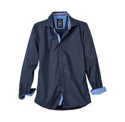 Herren-Hemd mit Kontrastfarben