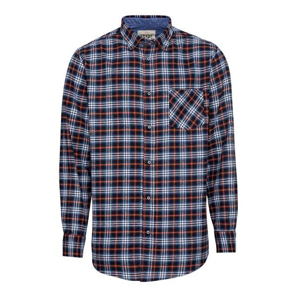 Herren-Flanell-Hemd mit Brusttasche