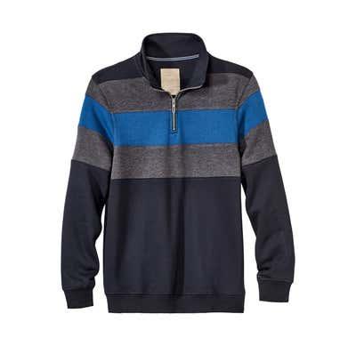 Herren-Sweatshirt in moderner Melange-Optik