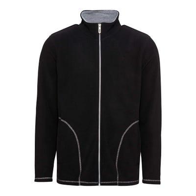 Herren-Fleece-Jacke mit trendigen Ziernähten