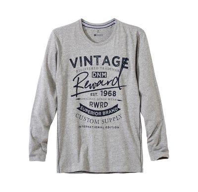 Herren-Langarmshirt in coolem Vintage-Design