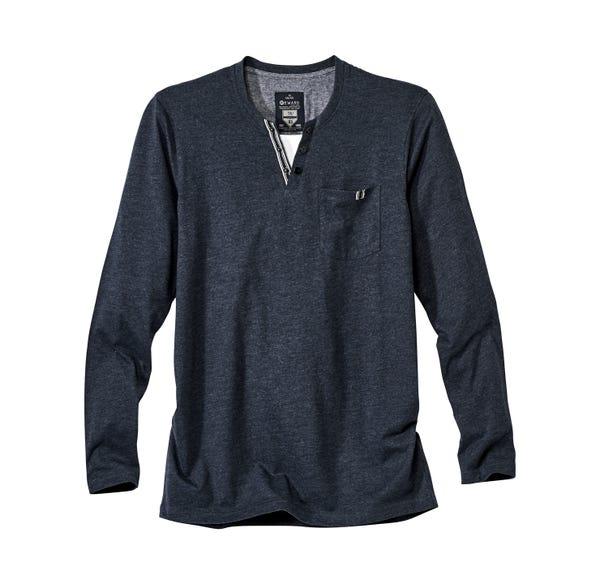 Herren-Shirt im angesagten Henley-Style