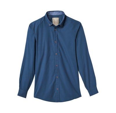 Herren-Hemd mit fein gerippter Popeline-Oberfläche