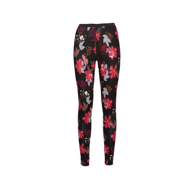 Damen-Caprileggings mit schickem Blumendesign