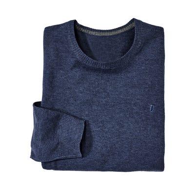 Herren-Feinstrick-Pullover mit Rundhals