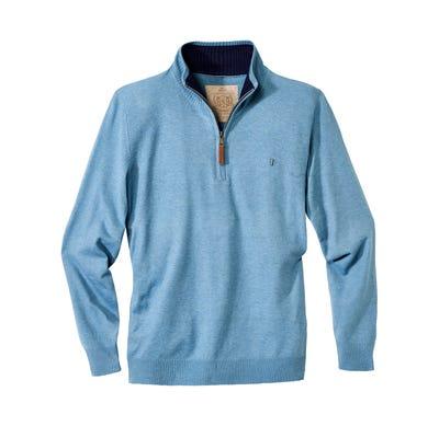 Herren-Pullover mit Reißverschluss-Kragen