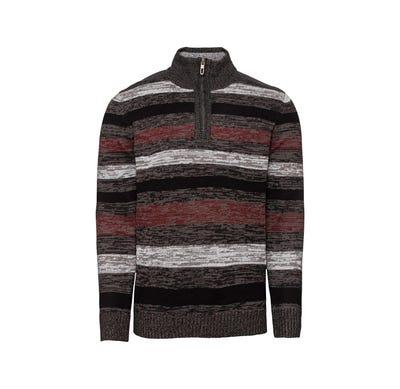 Herren-Pullover mit Streifenmuster