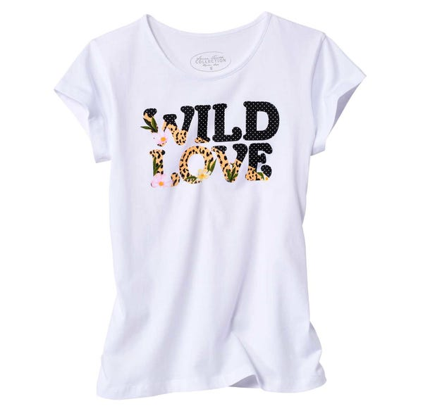 Damen-T-Shirt mit hübschem Frontaufdruck