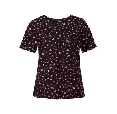Damen-T-Shirt mit Brusttasche, große Größen
