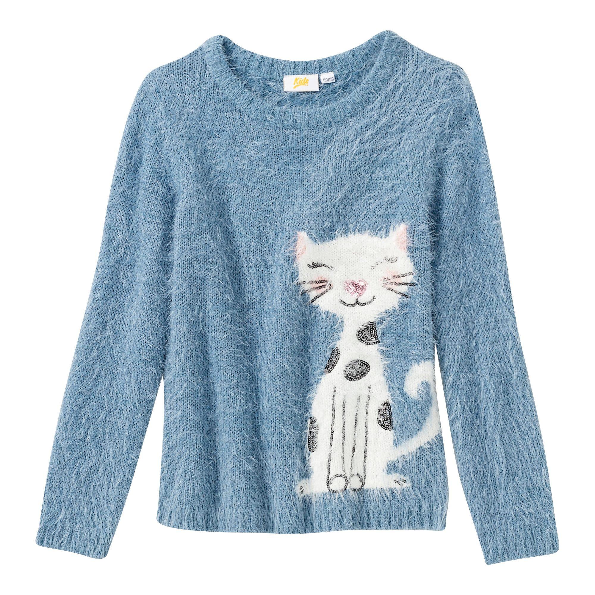 Mädchen Pullover mit Katzen Motiv Kostenloser Versand