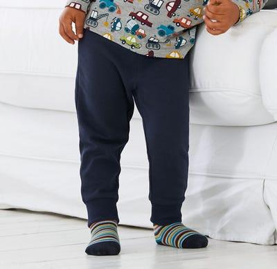 Baby-Jungen-Jogginghose mit Kontrastbund