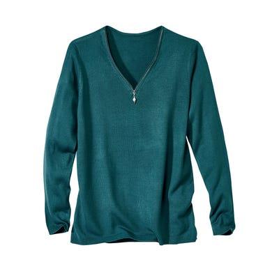 Damen-Pullover mit dekorativem Glitzerstein