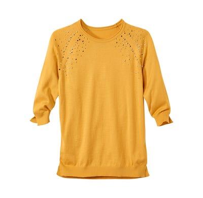 Damen-Pullover mit trendigen Metallplättchen