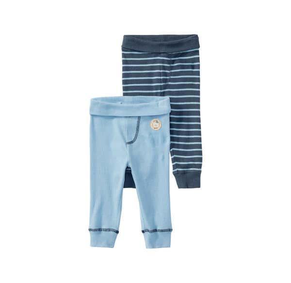 Baby-Jungen-Hose mit Bündchen am Beinabschluss, 2er Pack