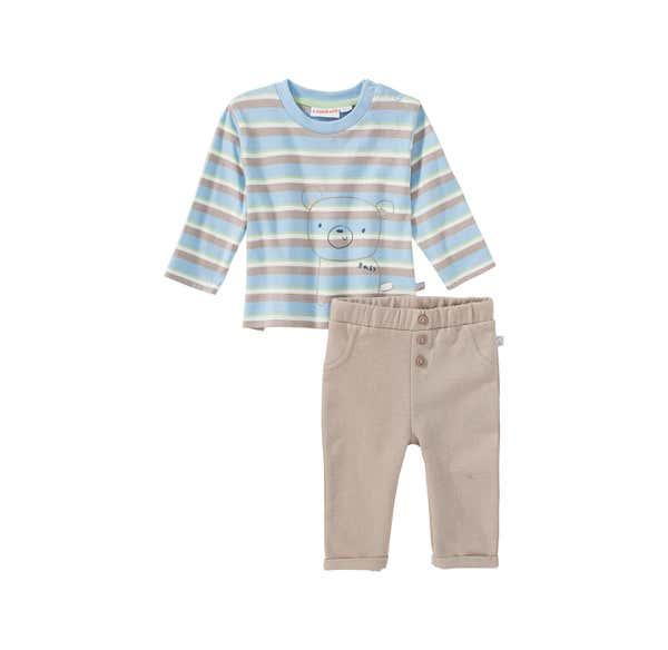Baby-Jungen-Set mit Streifenmuster, 2-teilig