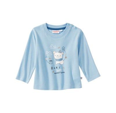 Baby-Jungen-Shirt mit Bären-Frontaufdruck