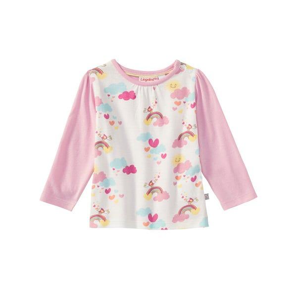 Baby-Mädchen-Shirt mit Regenbogen-Muster