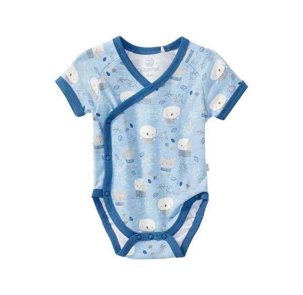 Baby-Jungen-Wickelbody mit süßem Muster