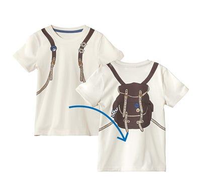 Jungen-Trachten-T-Shirt mit Rucksack-Aufdruck