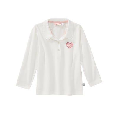 Baby-Mädchen-Shirt mit Polo-Kragen
