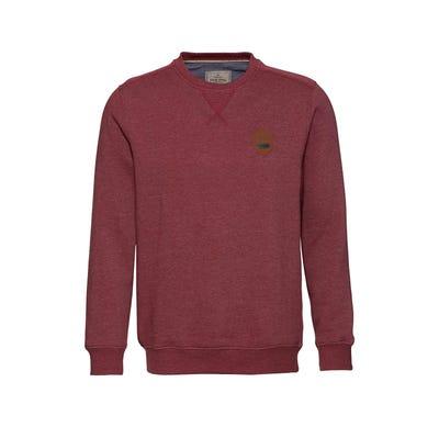 Herren-Sweatshirt mit gekreuzten Ziernähten