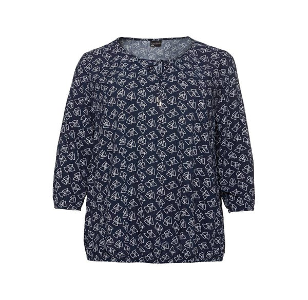 Damen-Bluse mit Dreiecksmuster, große Größen