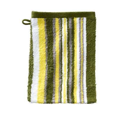 Waschhandschuh mit modischen Streifen, ca. 16x21cm