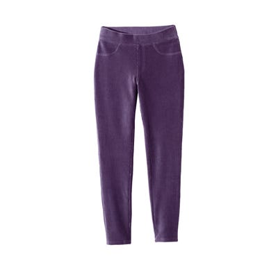 Damen-Jeggings in Samt-Optik