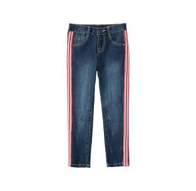 Mädchen-Jeans mit Kontrast-Streifen