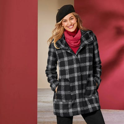 Damen-Jacke in modischer Woll-Optik