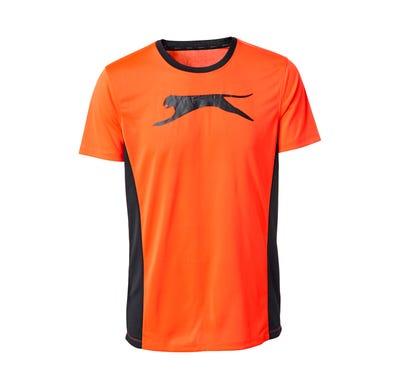 Herren-Fitness-T-Shirt mit sportlichen Seitenstreifen