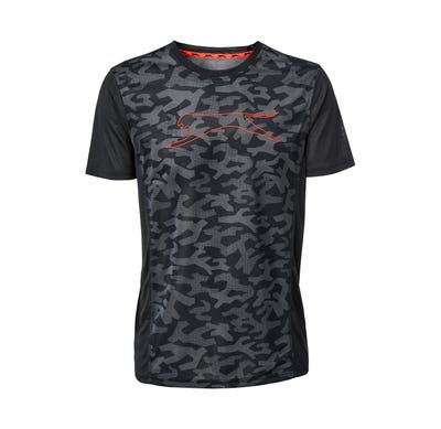 Herren-Fitness-T-Shirt in Camouflage-Optik