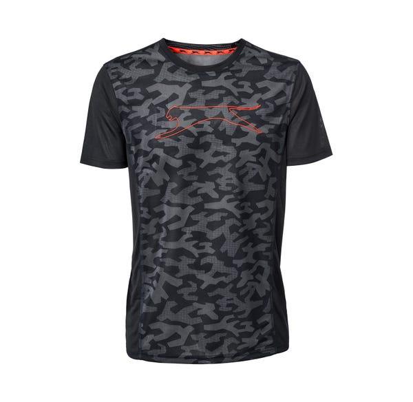 Herren-Fitness-T-Shirt in Camouflage-Optik