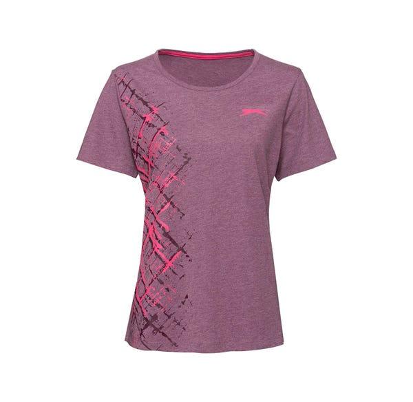Slazenger Damen-Fitness-T-Shirt in Melange-Optik