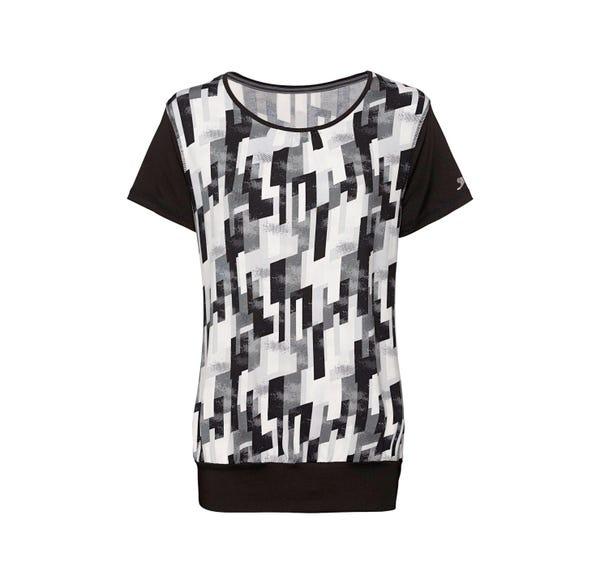 Slazenger Damen-Fitness-T-Shirt mit trendigem Muster