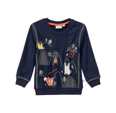 Baby-Jungen-Sweatshirt mit Waldtieren