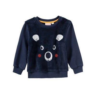 Baby-Jungen-Pullover mit Bärengesicht