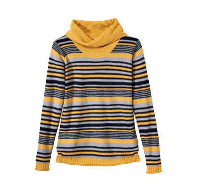 Damen-Pullover mit trendigem Wasserfallkragen